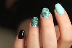 Conception d'art de vernis à ongles d'ongles manucurés photographie stock