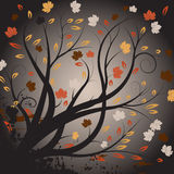 Conception d'automne de vecteur illustration stock
