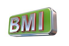 conception 3d de bmi - indice de masse corporelle Photographie stock libre de droits
