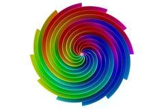 Conception 3D de logo colorée par résumé illustration de vecteur