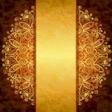 Conception d'or de vintage. Photo libre de droits