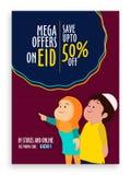 Conception d'Eid Sale Pamphlet, de bannière ou d'insecte Photos libres de droits