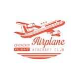 Conception d'emblème de club d'avions d'avion Photographie stock libre de droits