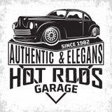 Conception d'emblème de hot rod de vintage photographie stock libre de droits