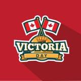 Conception d'emblème de Victoria Day Photographie stock