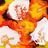Conception d'encre d'alcool de fleurs d'argent Photographie stock