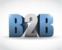 Conception d'entreprise à entreprise d'illustration de signe illustration libre de droits