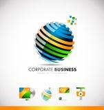 Conception d'entreprise d'icône de logo de la sphère 3d d'affaires illustration stock