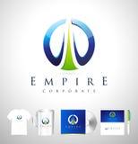 Conception d'entreprise de logo d'affaires bleues Photographie stock