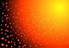 Conception d'espace lumineuse de fond Illustration de vecteur Lumières rougeoyantes Étoiles de flamber illustration de vecteur