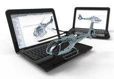 Conception d'hélicoptères illustration de vecteur