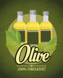 Conception d'huile d'olive Image stock