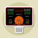 Conception d'icône de basket-ball illustration libre de droits