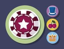 Conception d'icône de casino Illustration Libre de Droits