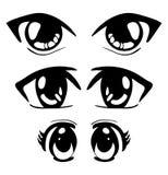 Conception d'icône de symbole de vecteur de yeux de Manga Belle OIN d'illustration illustration libre de droits