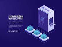 Conception d'icône de systèmes d'information, web server, matériel informatique, la grande informatique, client d'Internet, résea illustration stock