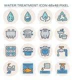 Conception d'icône de traitement de l'eau illustration de vecteur