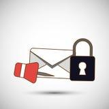 Conception d'icône d'enveloppe, illustration de vecteur Photo libre de droits