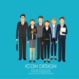 Conception d'icône d'hommes d'affaires Images libres de droits