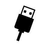 conception d'icône d'isolement par connexion d'usb Photographie stock