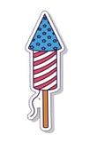 Conception d'icône d'isolement par feux d'artifice patriotiques Image stock
