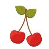 Conception d'icône d'isolement par fruit de cerises illustration de vecteur
