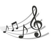 conception d'icône d'isolement par notes de musique de modèle illustration stock