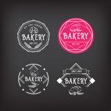 Conception d'icône de boulangerie Vintage d'insigne de menu Photos libres de droits