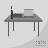 Conception d'icône de bureau Photos libres de droits