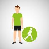 Conception d'icône de concept de patineur de glace d'homme de sport Photographie stock