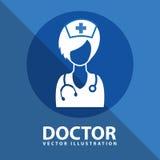 Conception d'icône de docteur Images stock