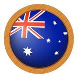 Conception d'icône de drapeau pour l'Australie Photo stock