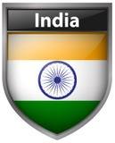 Conception d'icône de drapeau pour l'Inde Image stock
