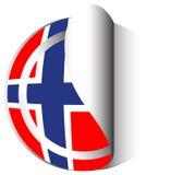 Conception d'icône de drapeau pour la Norvège Photos stock