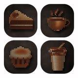 Conception d'icône de grain de café Photo libre de droits