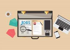 Conception d'icône de recherche d'emploi Image libre de droits