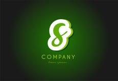 Conception d'icône de société du vert 3d de logo de lettre d'alphabet de S Images libres de droits