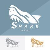 Conception d'icône de symbole de requin illustration stock