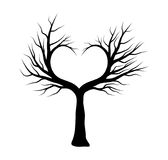 Conception d'icône de symbole de vecteur d'arbre de coeur La belle illustration est Photographie stock libre de droits