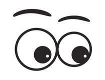 Conception d'icône de symbole de vecteur de yeux de bande dessinée illustration stock