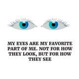 Conception d'icône de yeux, conception plate d'illustration de vecteur Mes yeux sont mes Photos libres de droits
