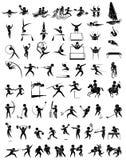 Conception d'icône pour beaucoup type de sports illustration de vecteur