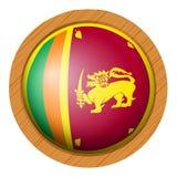 Conception d'icône pour le drapeau de Sri Lanka Photographie stock libre de droits