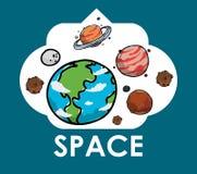 Conception d'icônes de l'espace Photo libre de droits