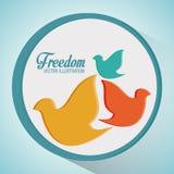 Conception d'icônes de liberté Photographie stock