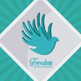 Conception d'icônes de liberté Images stock