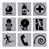 Conception d'icônes du feu Photographie stock libre de droits