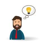 Conception d'idée Icône d'ampoule Concept de solution Image stock
