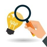 Conception d'idée Icône d'ampoule Concept de solution Photo stock
