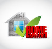 conception d'illustration approuvée par inspection à la maison illustration libre de droits